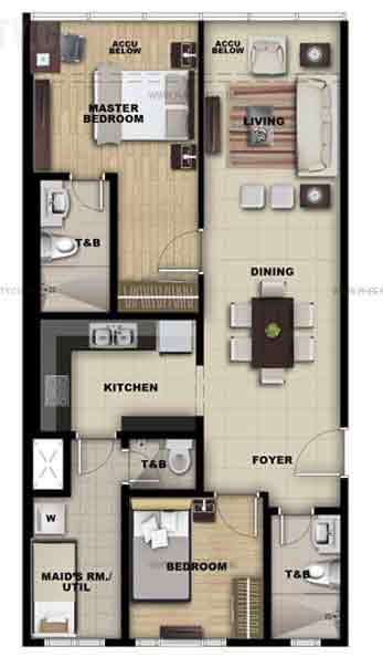 Unit A 2 Bedroom Suite