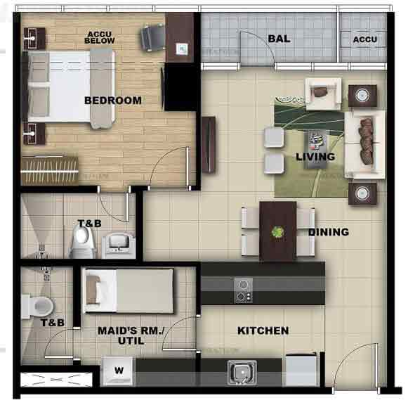 Unit B,C 1 Bedroom