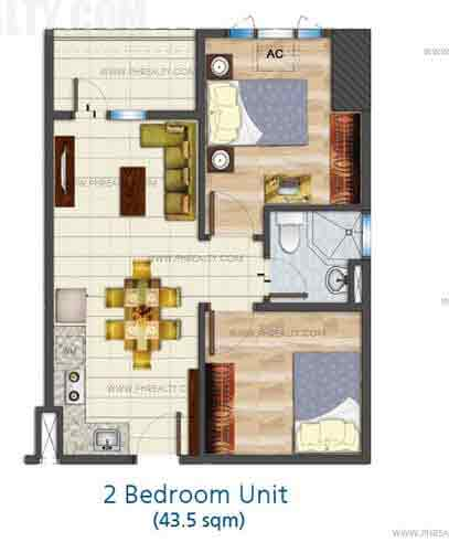 Building a b sea residences condo in pasay city 2 unit building plan