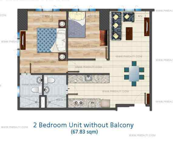 2 Bedroom Unit without Balcony