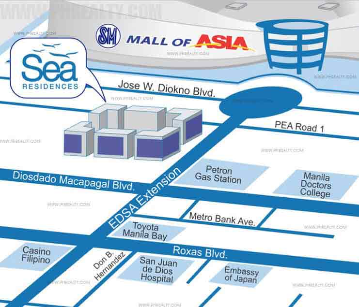 Sea Residences Location