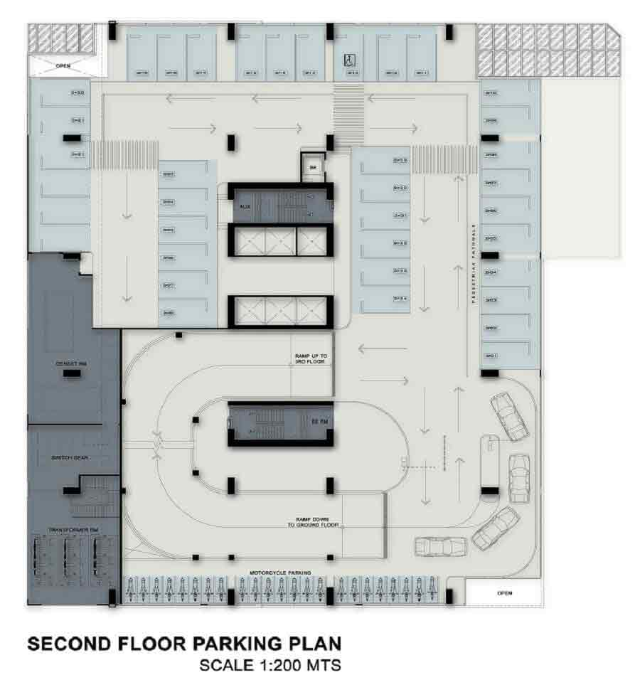 Second Floor Parking Plan