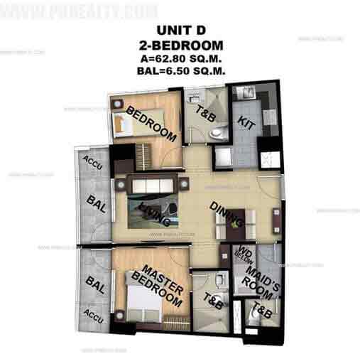 Unit D 2 Bedroom