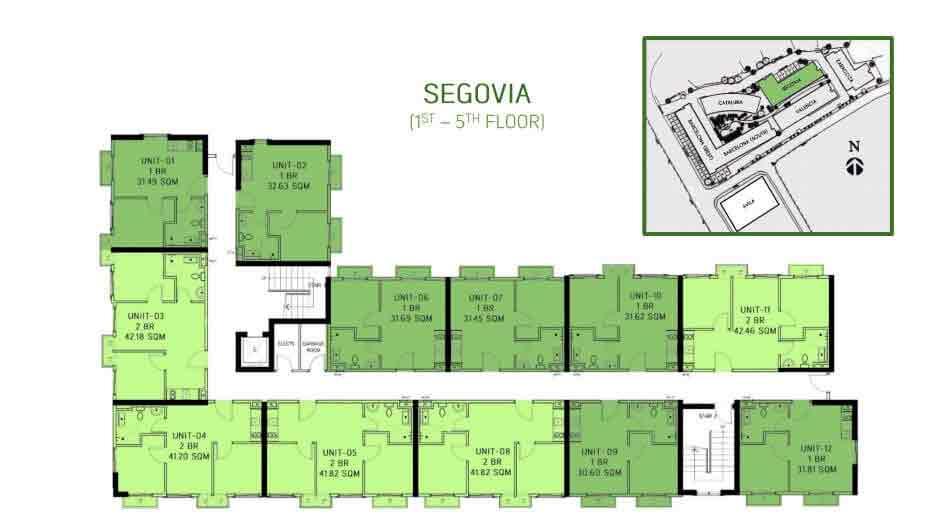 Segovia Floor Layout