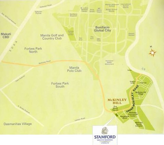 Stamford Executive Residences Location