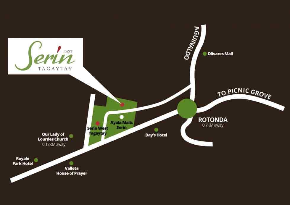 Serin East Tagaytay Location