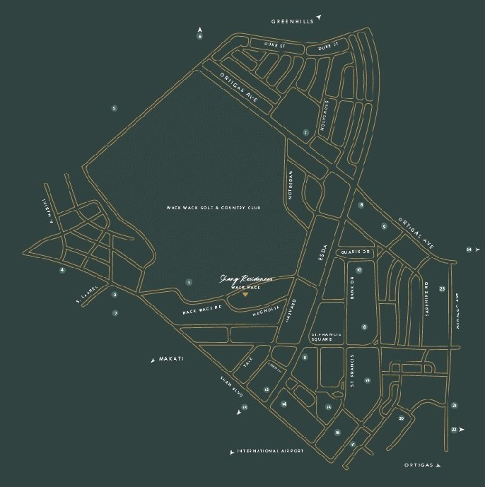 Shang Residences Wack Wack Location