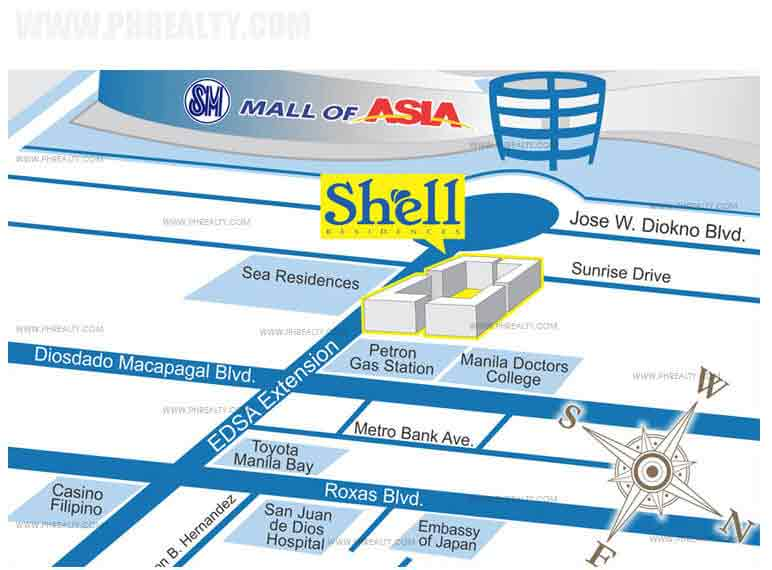 location address of smdc shell residences pasay city