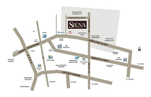 Siena Towers Location