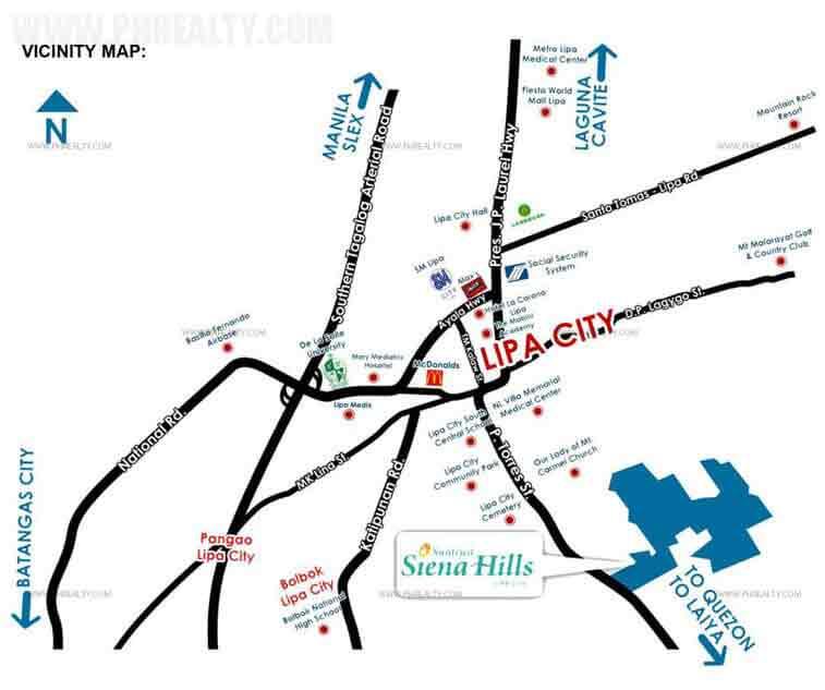 Sienna Hills Location