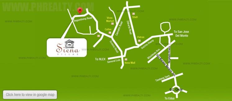 Sienna Villas Location