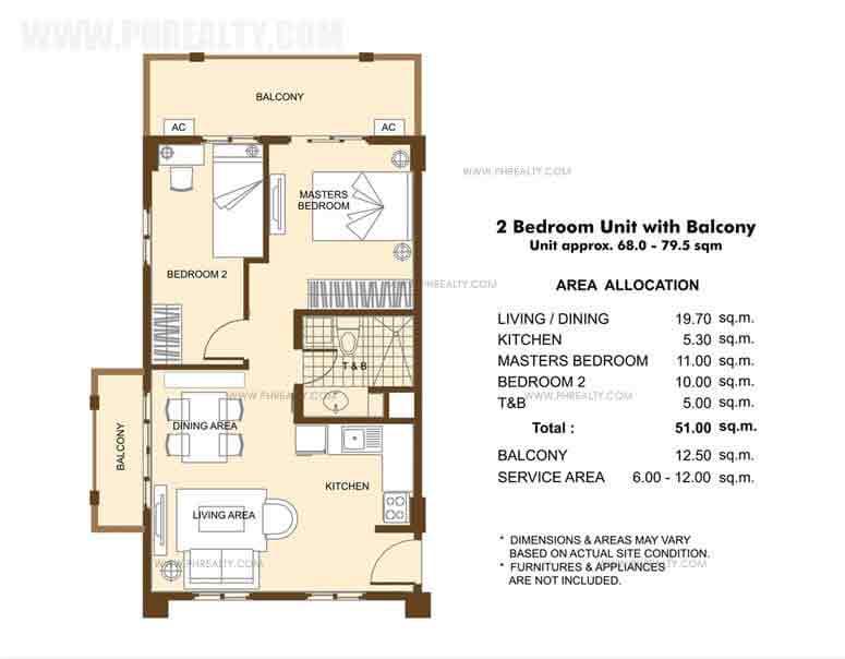 Unit with Balcony -2 Bedroom