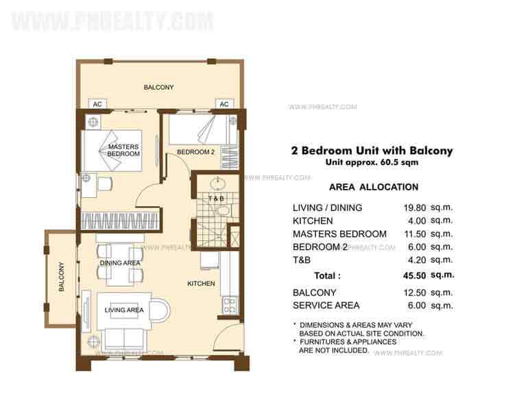 Unit with Balcony- 2 Bedroom