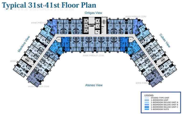 31st to 41st Floor