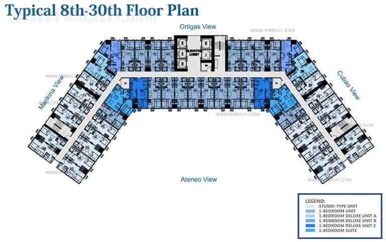 8th - 30th Floor Plan