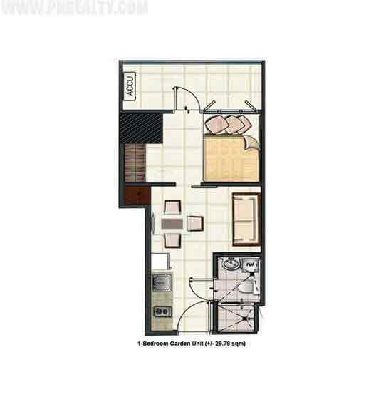 1 Bedroom Garden Unit