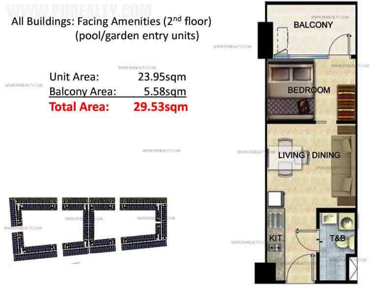 Two Bedroom with Balcony