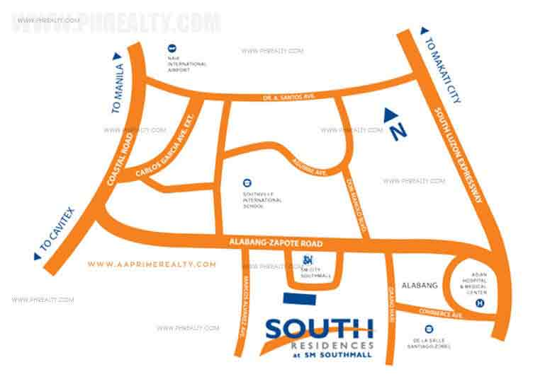 South Residences Location