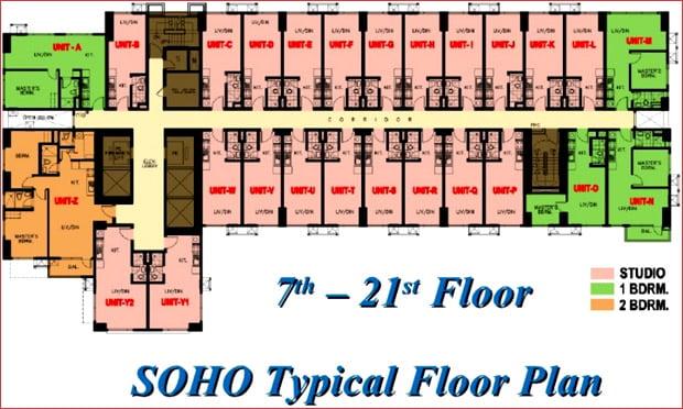 SOHO Typical Floor Plan