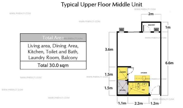 Typical Upper Floor Middle Unit