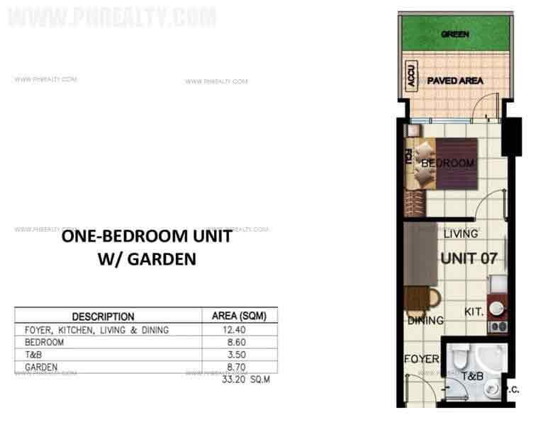 One Bedroom Unit with Garden