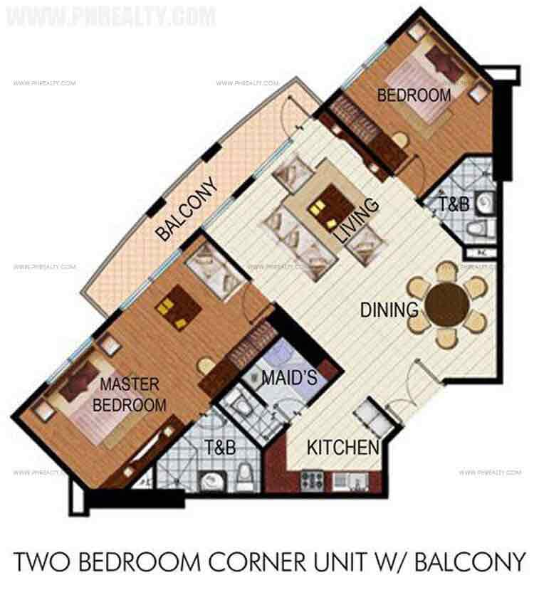 Two Bedroom Units with Balcony