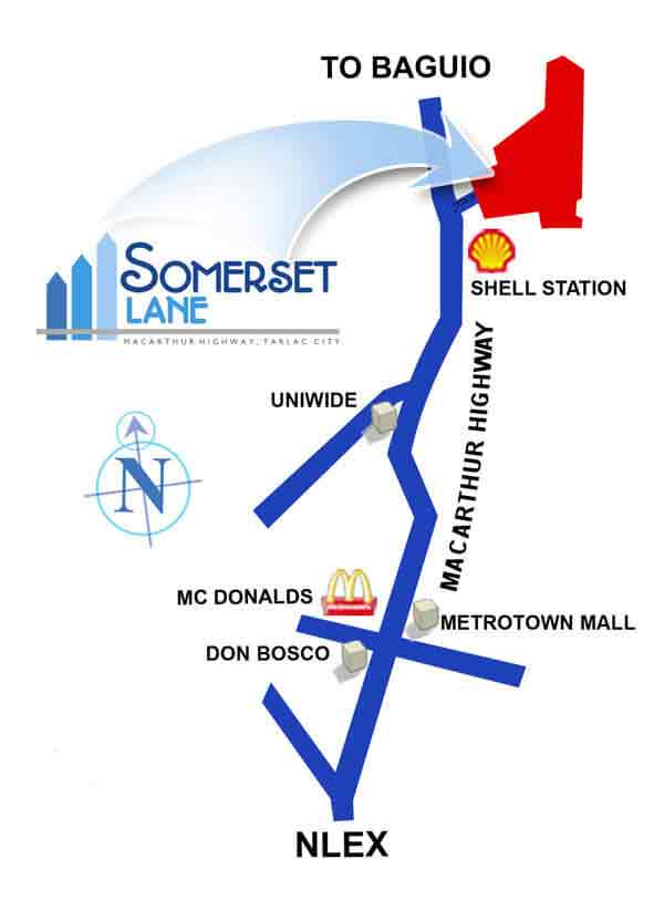 Somerset Lane Tarlac Location