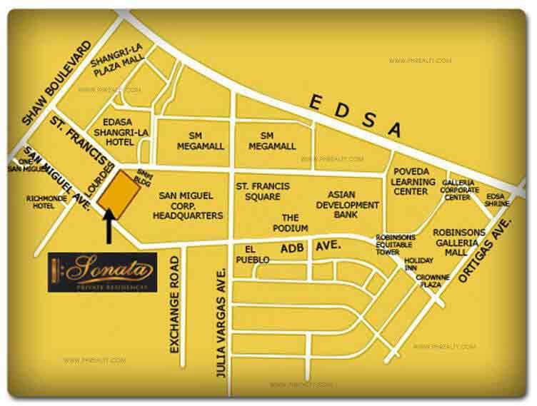 Sonata Private Residences Location