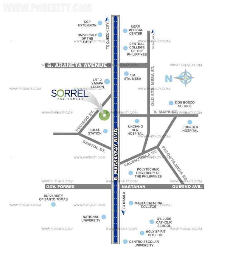 Sorrel Residences Location