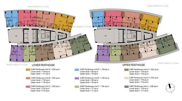 South Tower Penthouse Floor Plans