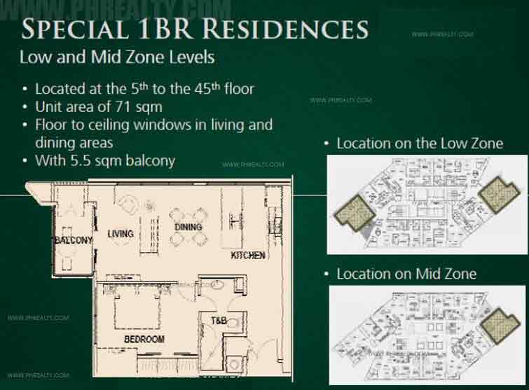 Special 1 BR Residences