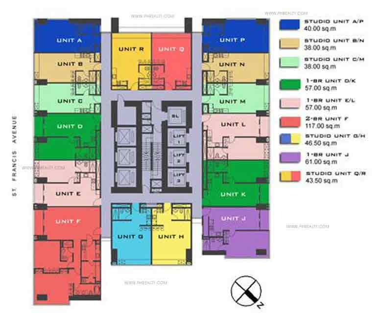 11th to 33rd Floor Plan