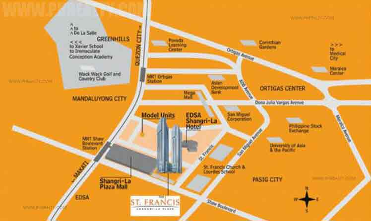 St. Francis Shangri-La Place Location
