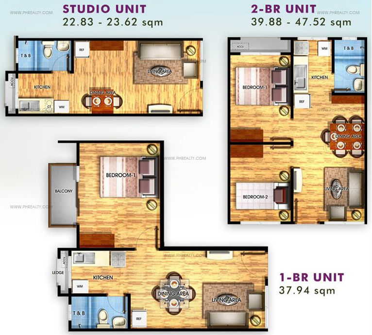 Studio / 1 Bedroom / 2 Bedroom