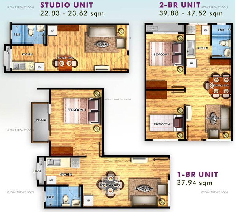 Studio / 1 Bedroom / 2 Bedroom
