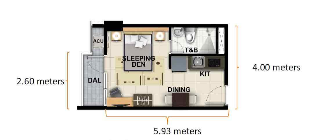 Studio Unit 23.50 sqm
