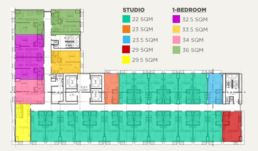 Studio and 1 BR Layout