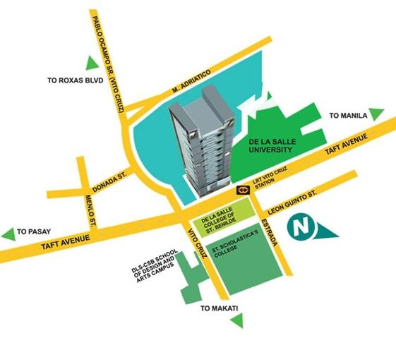 Vista Residences Taft Location