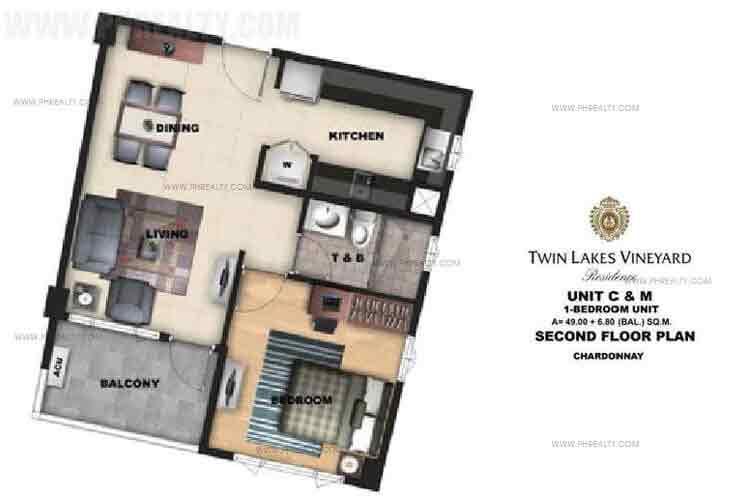 Unit C & M - Second Floor Plan