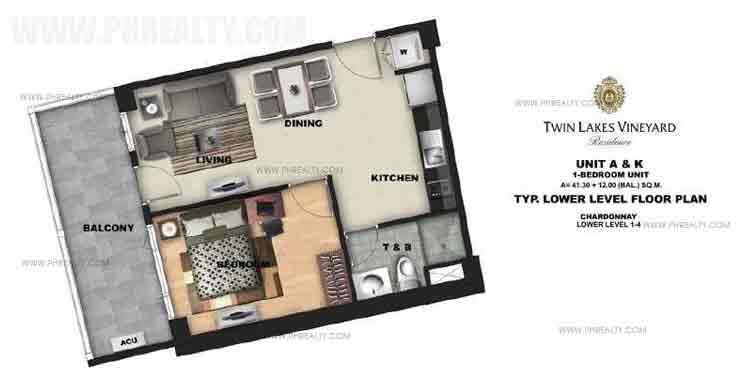 Unit A & K - 1 Bedroom