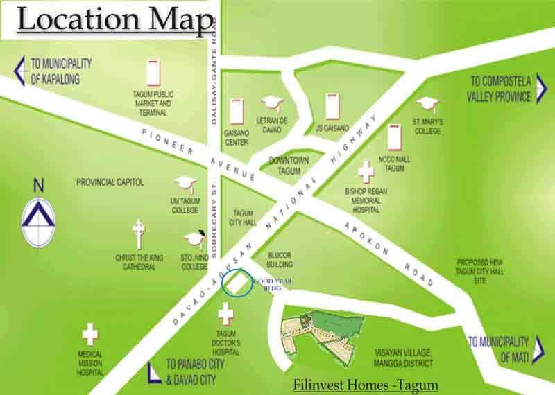 Filinvest Homes Tagum Location