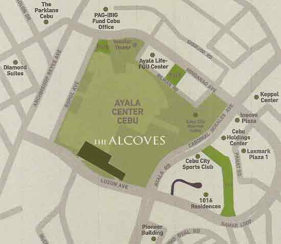 The Alcoves Location