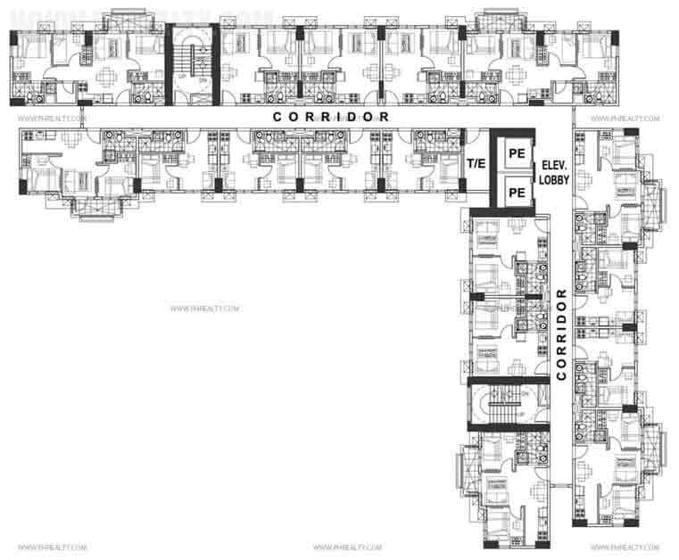 Typical Floor Plan 2nd - 16th Level