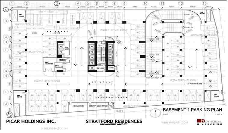Basement 1 Parking Plan