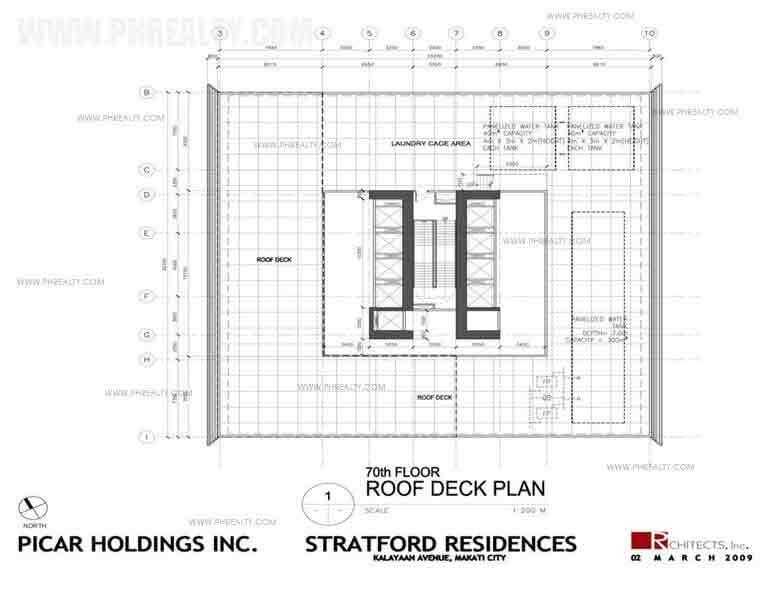 70th Floor Roof Deck Plan