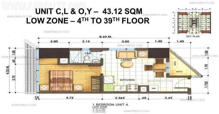 1 Bedroom Unit A