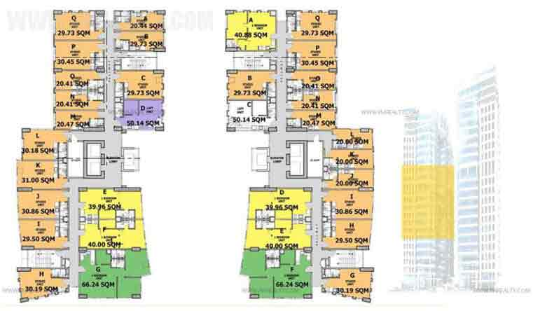 6th-16th Floor Plan