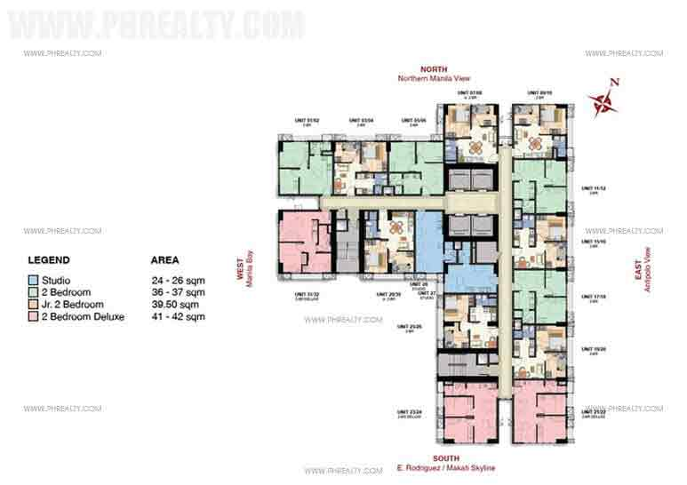 20th,28th,34th and 35th Floor Plan