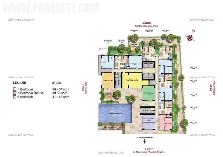 7th Floor Amenity Plan