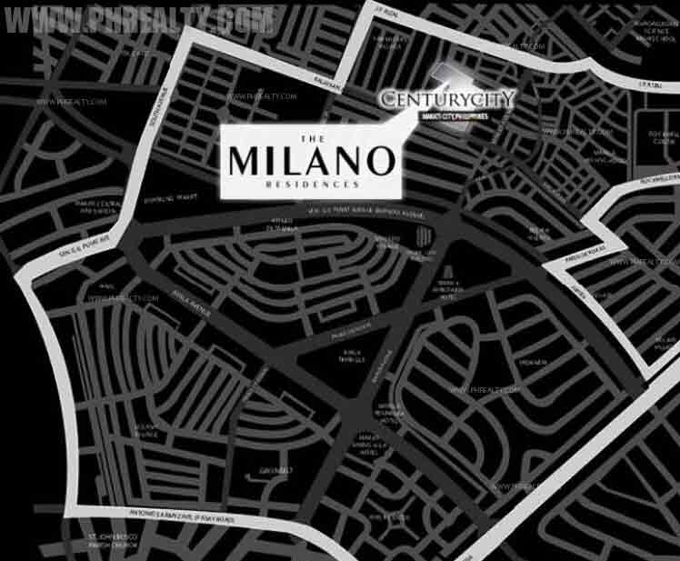 The Milano Residences Location